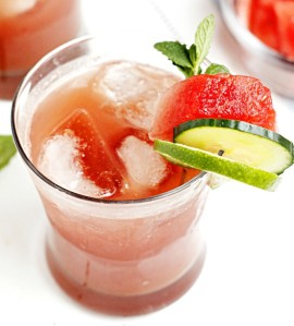Watermelon Cucumber Cooler - Image from fabtasticeats